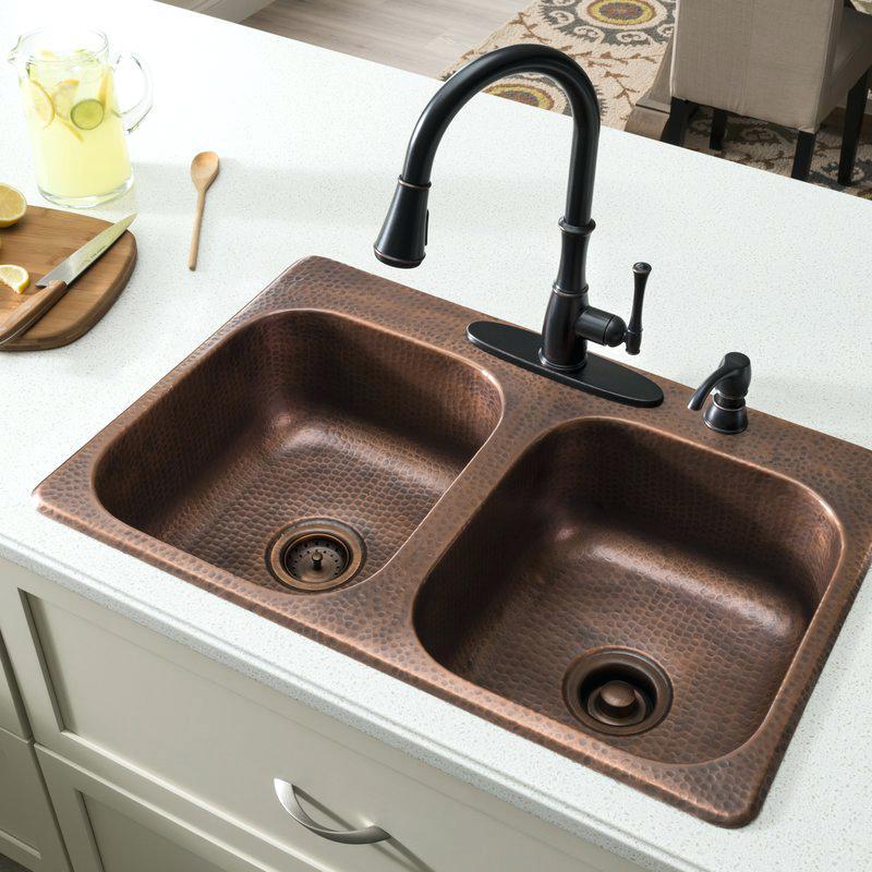 kitchen sinks x double bowl drop