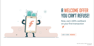 Freecharge Offer cashback coupons