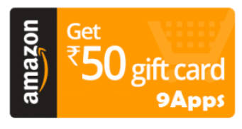 amazon free rs50 gift card from 9apps