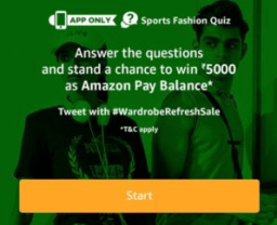 AMAZON sports fashion quiz answers