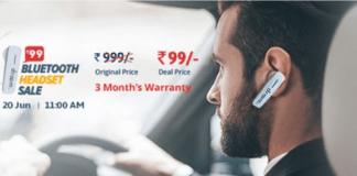 droom bluetooth headset sale at rs99