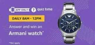 amazon armani watch quiz answer by 3ghackerz