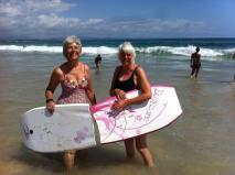 Sheila surfing