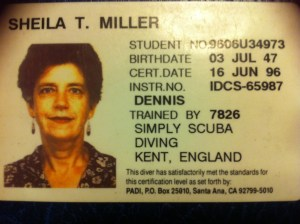 Sheila's Diving Licence