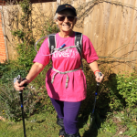 Sheila in donated kit