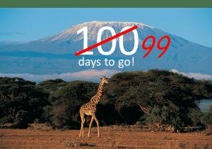 99 days to go - not 100 days to go - until we summit Mount Kilimanjaro