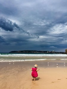 Granddaughter Onnie on a Sydney beach