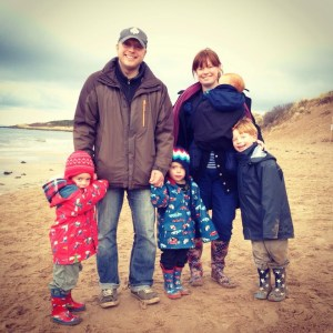 Jae's lovely second cousin Eve with her husband, Dave, and their children - they live in North Berwick