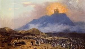 Moses encounters God on Mount Sinai