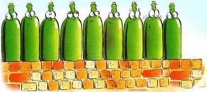 Nine green bottles
