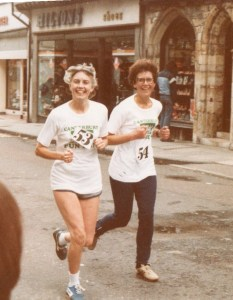 Pat and Sheila on a fun run in 1981