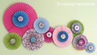 Paper Pinwheels: Wall Art on a Budget