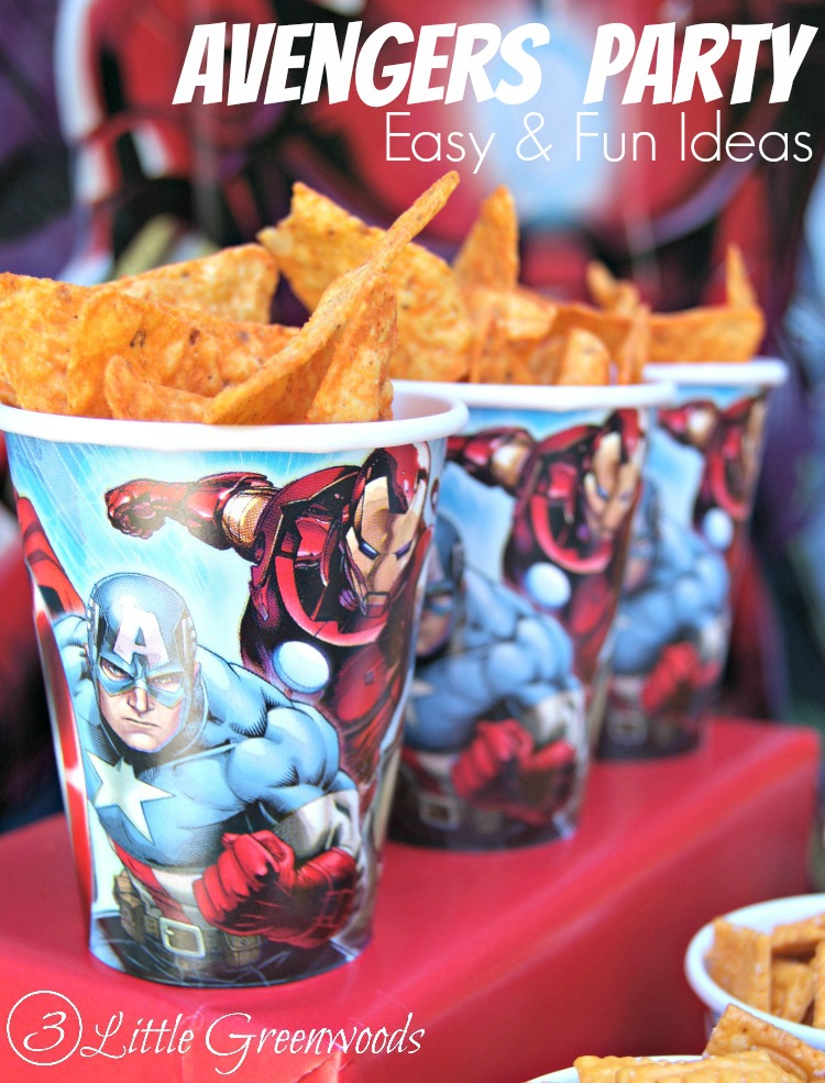 easy avengers party ideas
