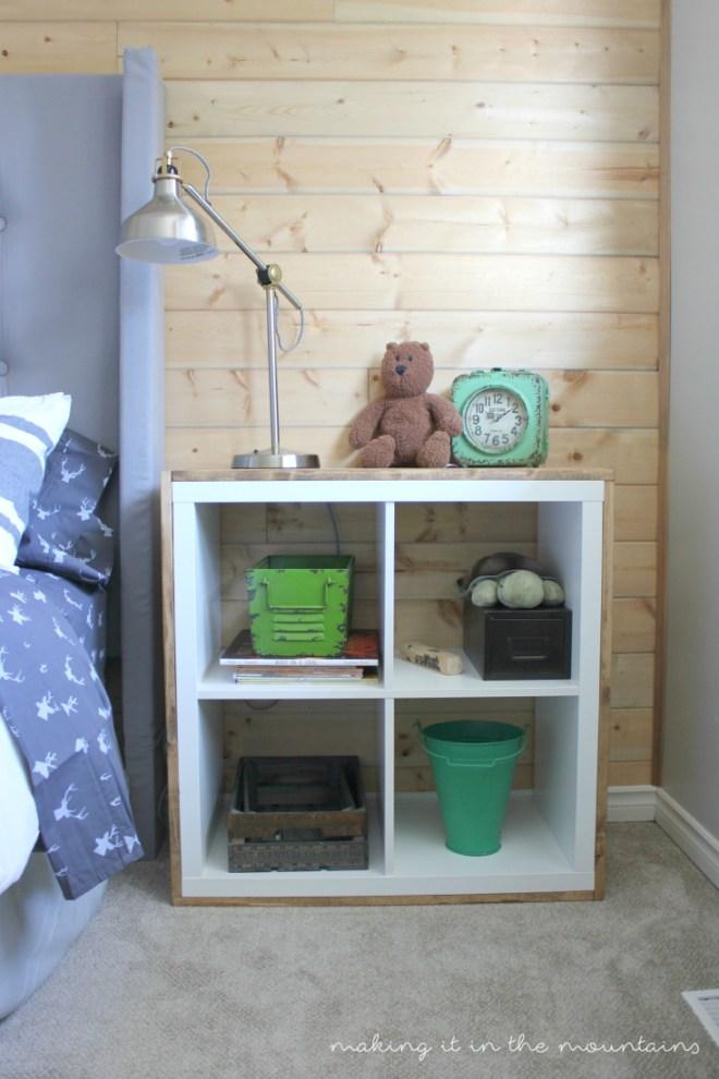 Summer Spotlight: Kristi from Making It In The Mountains - Wood Wrapped Ikea Shelf