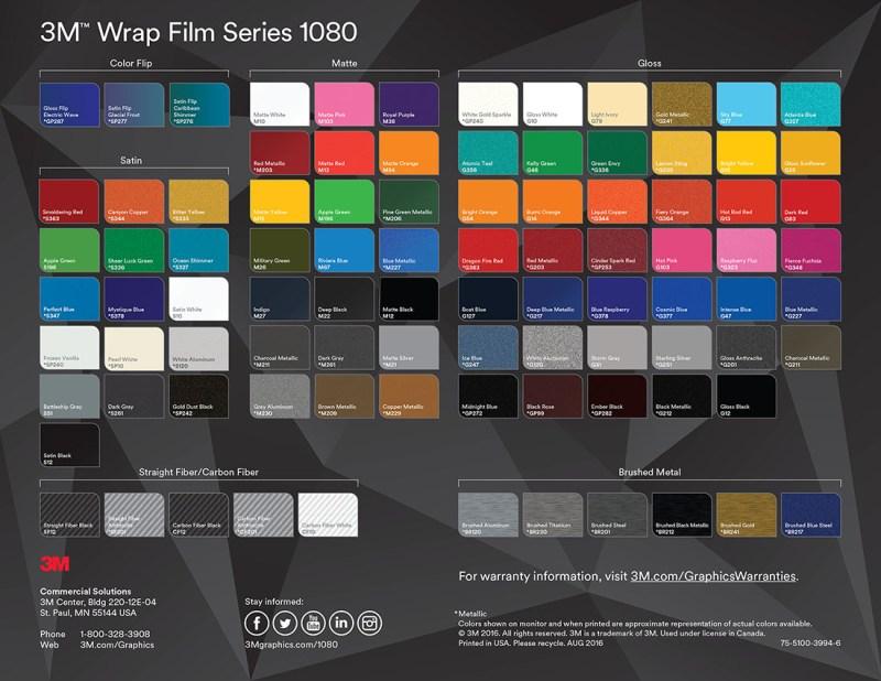 3m Vinyl Color Chart Pdf Coloringsite