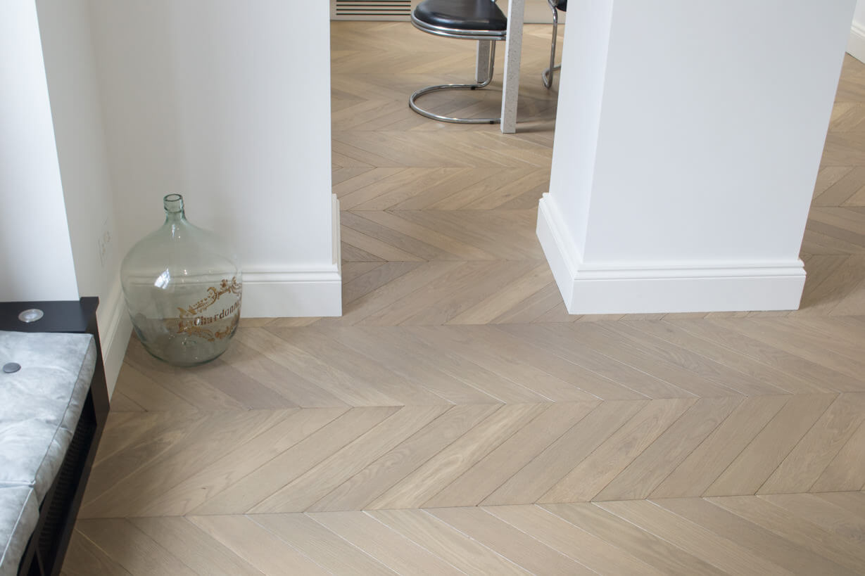 3 Oak Portfolio Project  Chevron Oak Wood Flooring
