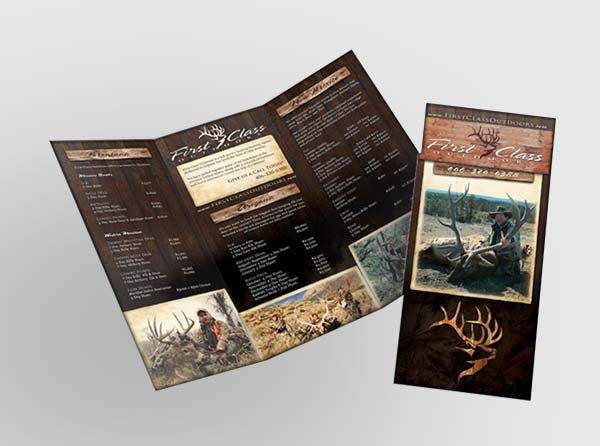 Hunting Booking Agent Brochure Design  Printing