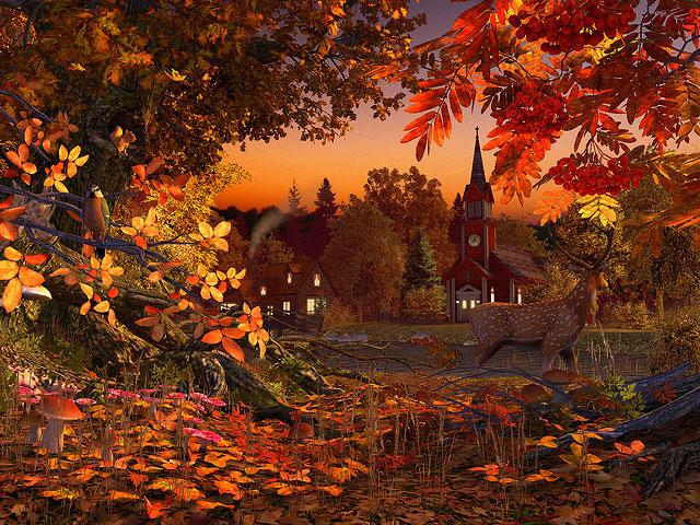 Water Falling Live Wallpaper Download Nature 3d Screensavers Autumn Wonderland The Fall In
