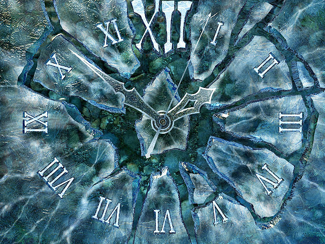 Iphone X Live Wallpaper Clock 3d Screensavers Ice Clock Keep Your Time With A
