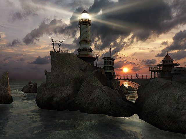Free Animated Fireplace Wallpaper Nature 3d Screensavers Lighthouse Point Admire A