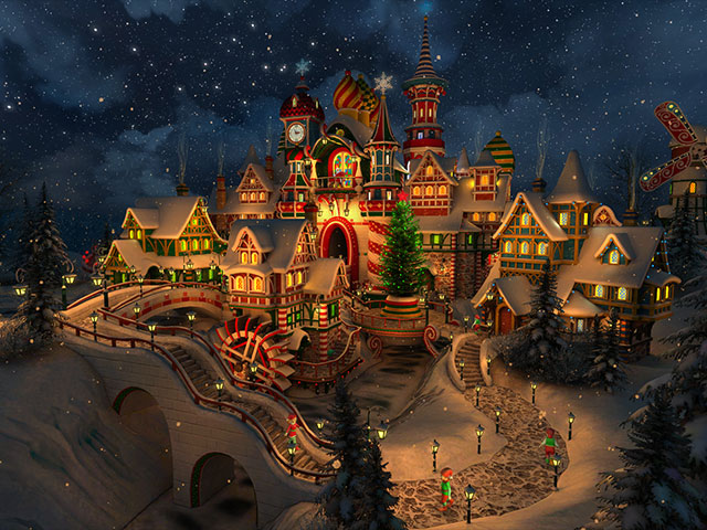 How To Get New Live Wallpapers Iphone X Holidays 3d Screensavers Santa S Castle