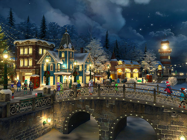 Free Download Of Christmas Wallpaper With Snow Falling Holidays 3d Screensavers Snow Village Heartwarming