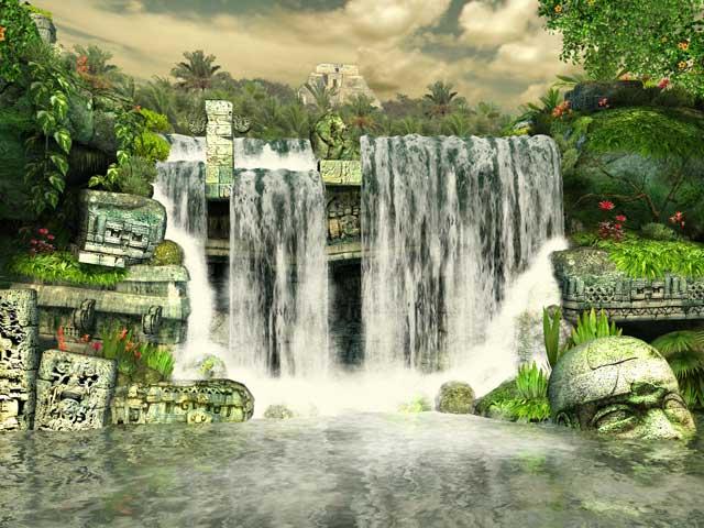 Halloween Fall Iphone Wallpaper Nature 3d Screensavers Mayan Waterfall The Enigmatic