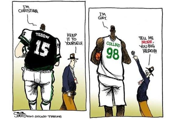 Christian and Gay Cartoon