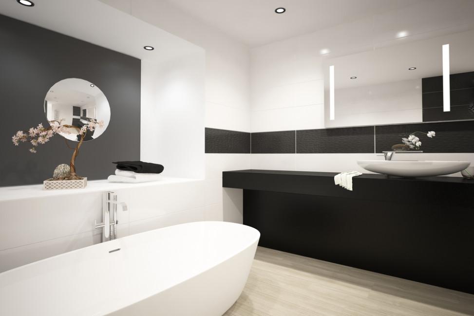 Bao moderno blanco y negro Fotos para que te inspires