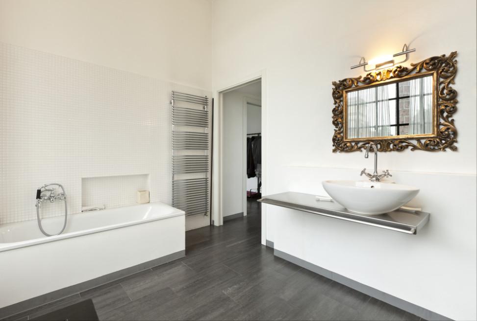 Bao moderno con espejo clsico Fotos para que te
