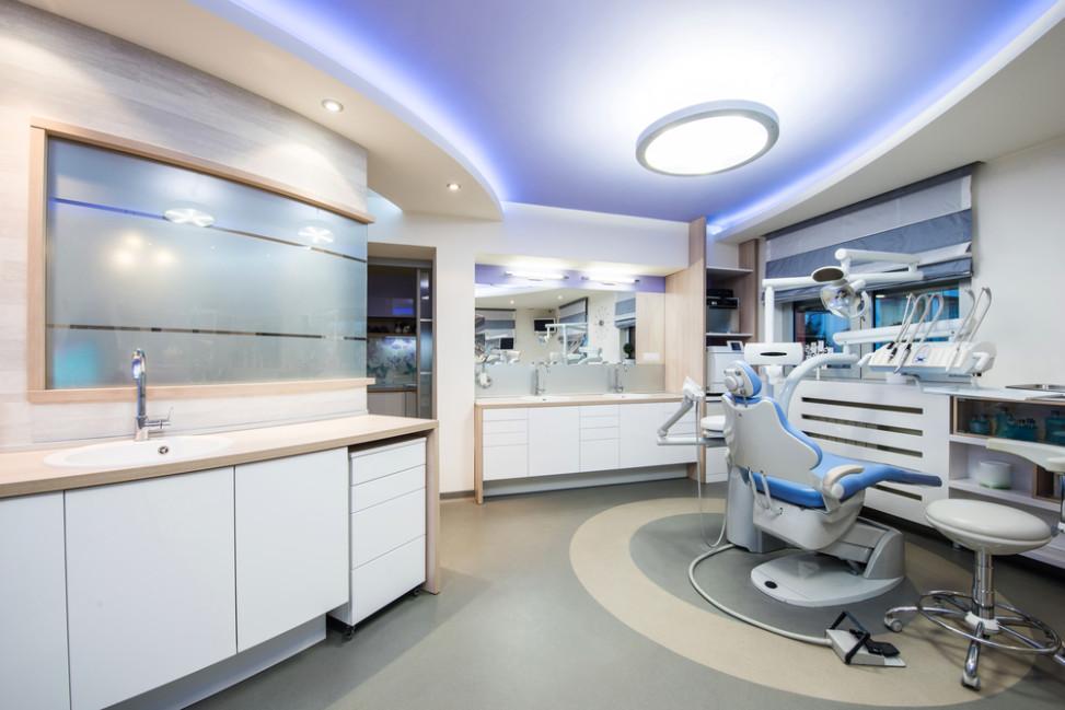 Clnica dental moderna de tonos azules Fotos para que te