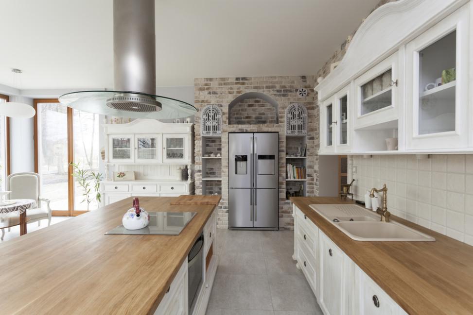 Cocina clsica con encimera de madera Fotos para que te