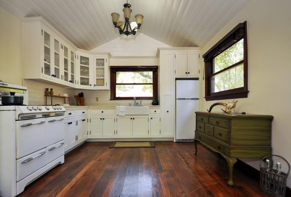Cocina clsica con suelo de madera Fotos para que te