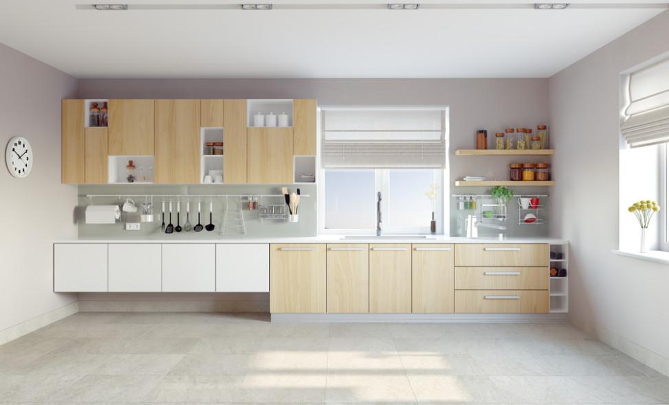 Cocina moderna de tonos grises y claros Fotos para que te