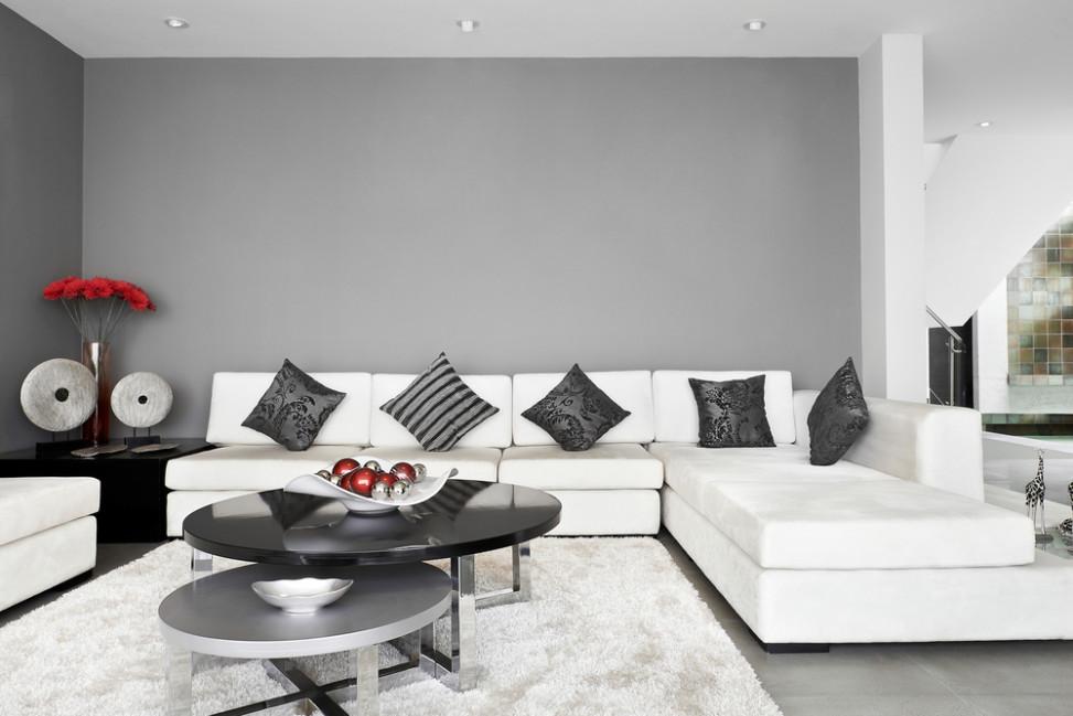 Saln minimalista de tonos grises Fotos para que te