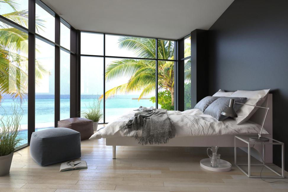 Dormitorio costero con suelo de madera de pino Fotos para que te inspires  3Presupuestos