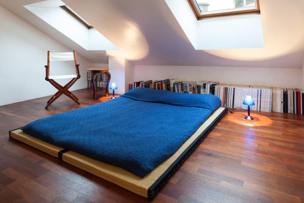 Dormitorio estilo japons en buhardilla Fotos para que te