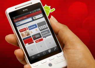 download with opera mini on your android