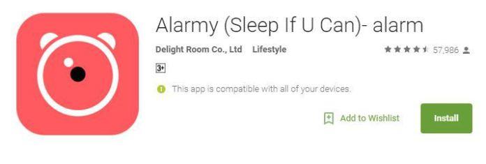 Alarmy app