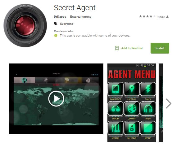 secret agent Android spying app