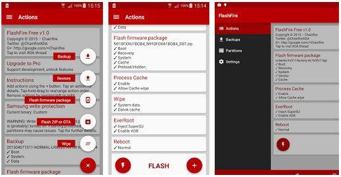 flashfire root app
