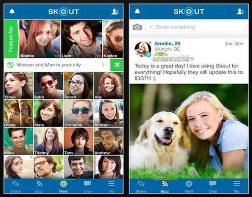Skout Android social app