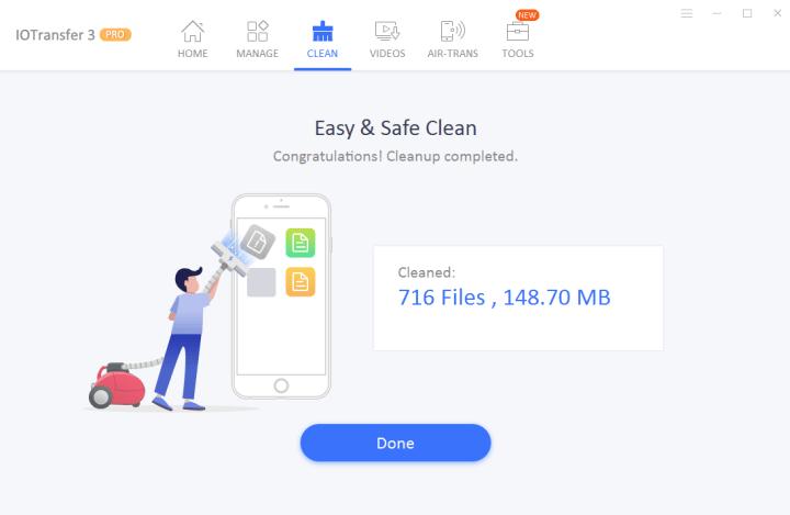IOTransfer 3 Junk Files Cleaner