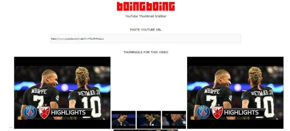 BoinBoing YouTube Images Downloader