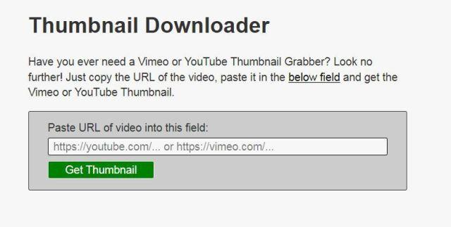 Thumbnail Downloader