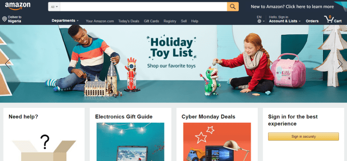 Amazon is among US Online Shopping Sites that Ships to Nigeria