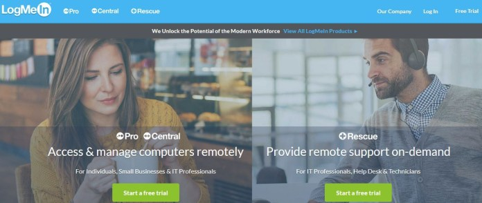 LogMeIn remote access tool