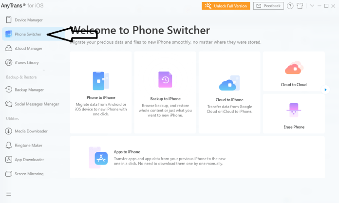 Anytrans Phone Switcher