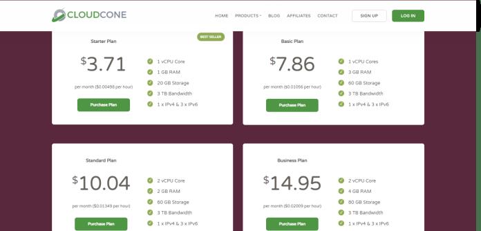 Cloudcone SaaS Hosting VPS servers