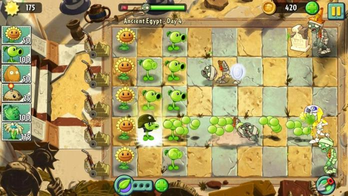 Plants vs Zombies 2 ios